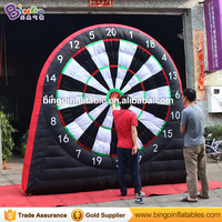 Hot sale cheaper 3X3 meters inflatable football dart board blow up dart board inflatable soccer dart games for kids outdoor toys