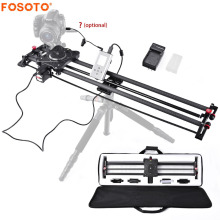 fosoto Stepper Motor Motorized Timelapse Video Slider Follow Focus Rail Carbon Slide for Electric Control DSLR Camera Shooting