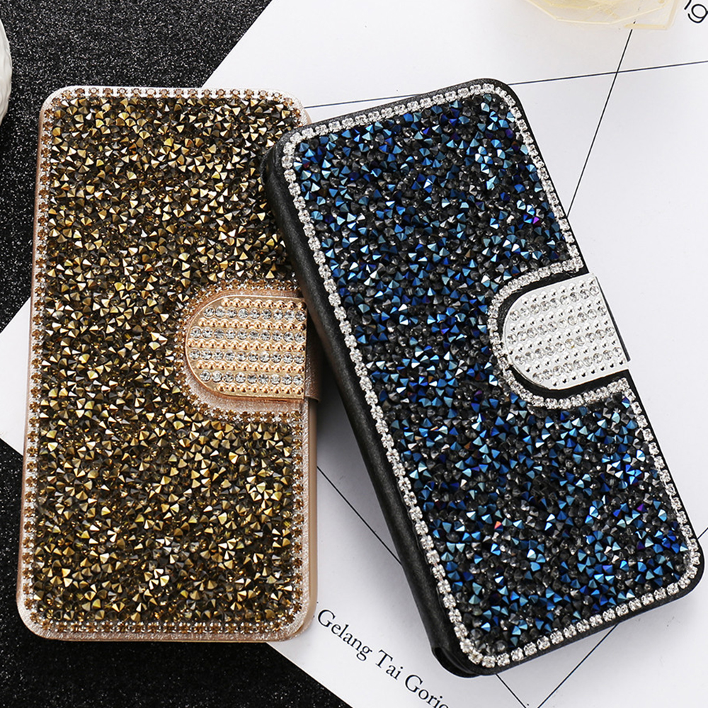 KISSCASE Bling Diamond Case For iPhone 5 5S SE Rhineston Glitter Wallet Flip Leather For iPhone