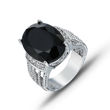 New Stylish  Engagement Claws Hot Sale Design Rings For Women AAA Black Zircon Cubic elegant rings Female Wedding jewerly J02279