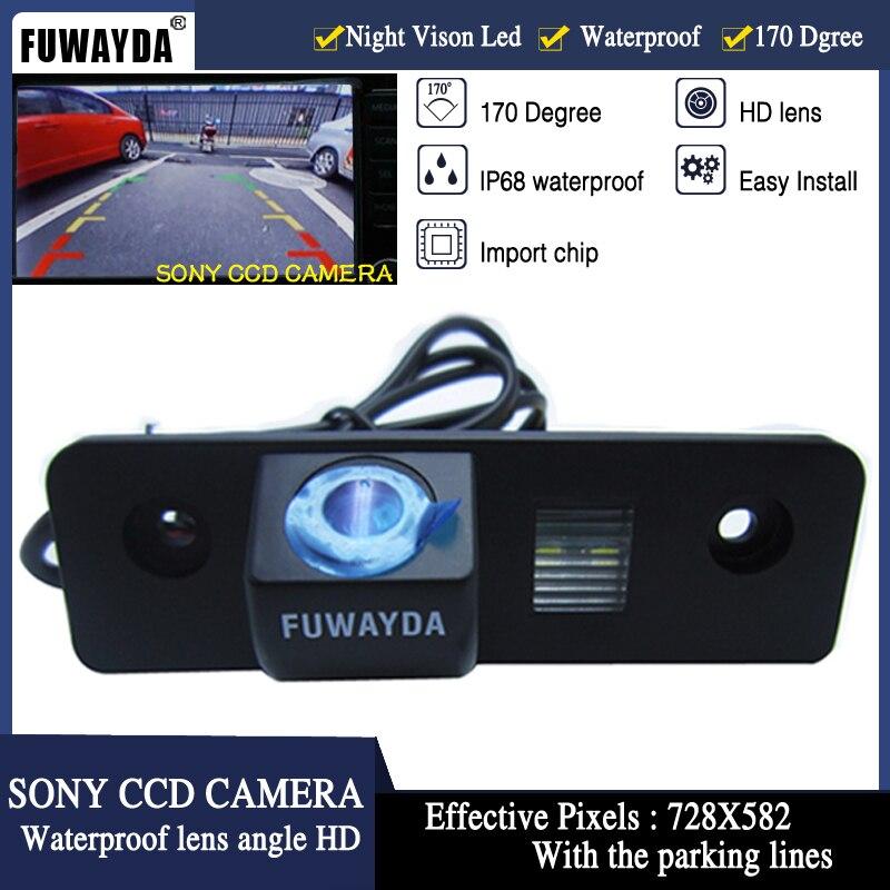 FUWAYDA Night Vision 170 ''Ângulo de visão Ampla à prova d' água SONY CCD Ver Traseira do carro Câmera Reversa para VW SKODA ROOMSTER OCTAVIA FABIA