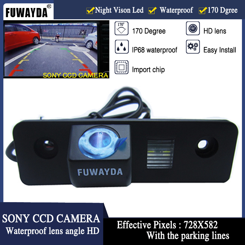FUWAYDA Nuit Vision 170 ''Large Angle de vue étanche SONY CCD Vue Arrière de voiture Caméra pour VW SKODA ROOMSTER OCTAVIA FABIA