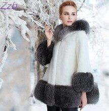 2016 winter high fashion women's luxurious faux fur coat Socialite thick warm leather Fur  jacket parkas Good  quality for lady защитное стекло caseguru для meizu m2 mini