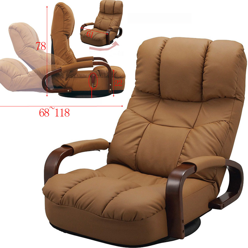 Floor Reclining Swivel Chair 360 Degree Rotation Japanese Style Living Room Furniture Modern Design ArmChair Chaise Lounge floor swivel recliner chair 360 degree rotation living room furniture modern japanese design leather armchair chaise lounge