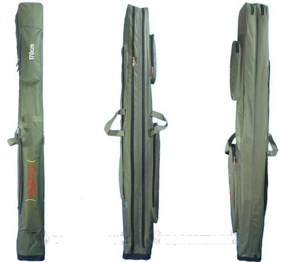 Super Long 170cm Fishing Bag 2 Layer Pole Waterproof Canvas 1 7m Tackle