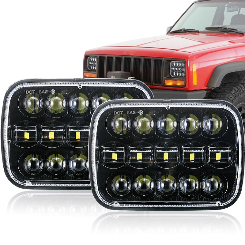 2018 New Sell 5x7 inch 7 Square headlight 95W Hi Lo Beam for 1986 1995 Jeep