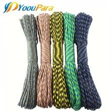 цена на YoouPara 30 Pcs/Lot Paracord 100 Feet 550 Parachute Cord Lanyard Rope Mil Spec Type III