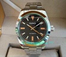 2017 new fashion 40mm parnis Sapphire Crystal 21 jewels Automatic Self Wind Mechanical movement Men Watch Luxury watch 310