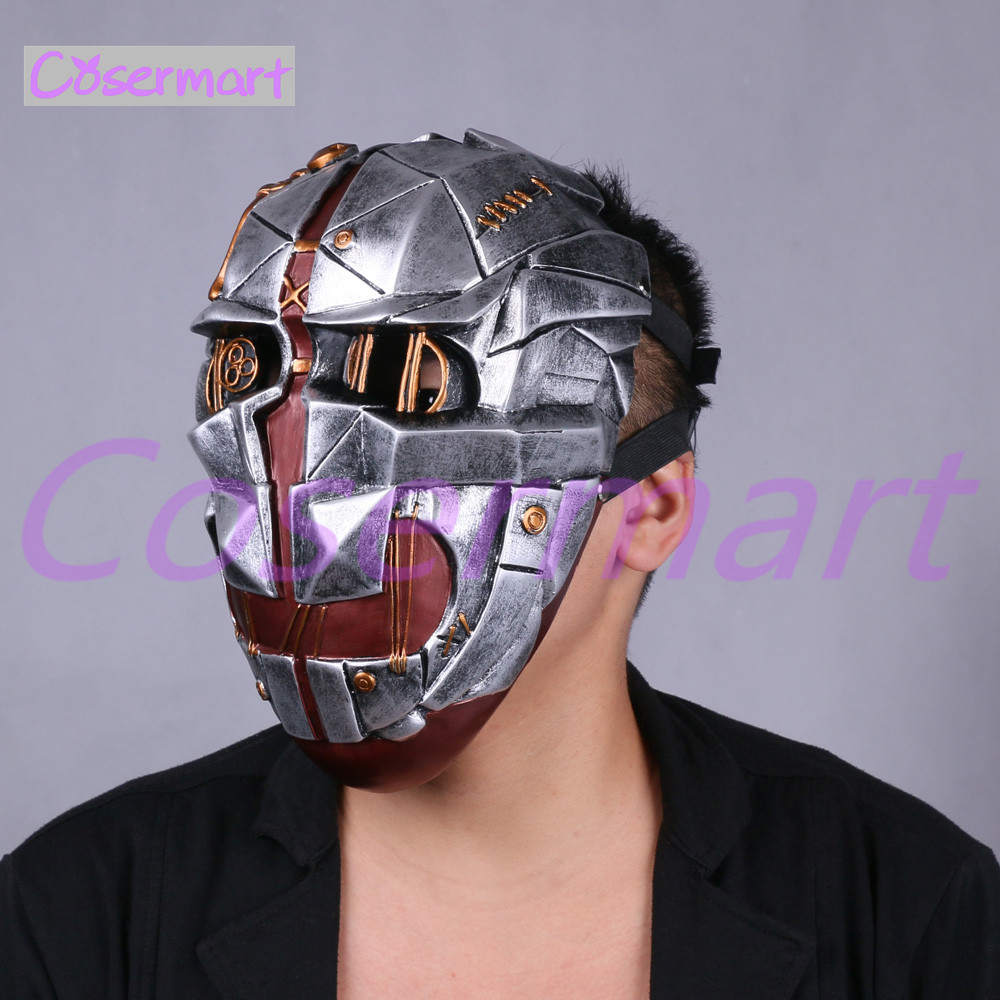 Cos Hot Game Dishonored Helmet Wearable Masks Cosplay Corvo Attano Mask Hard Resin Halloween Party (3)