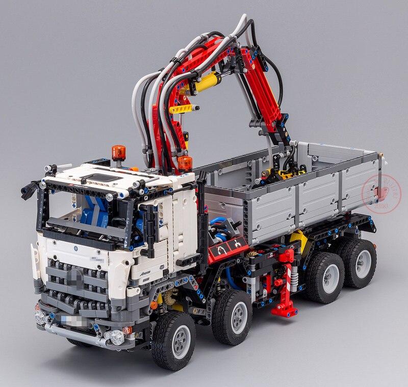 Nouvelle série technique Arocs camion modèle ensembles fit legoings technique camion ville modèle blocs de construction briques 42043 kid jouets bricolage cadeau - 4