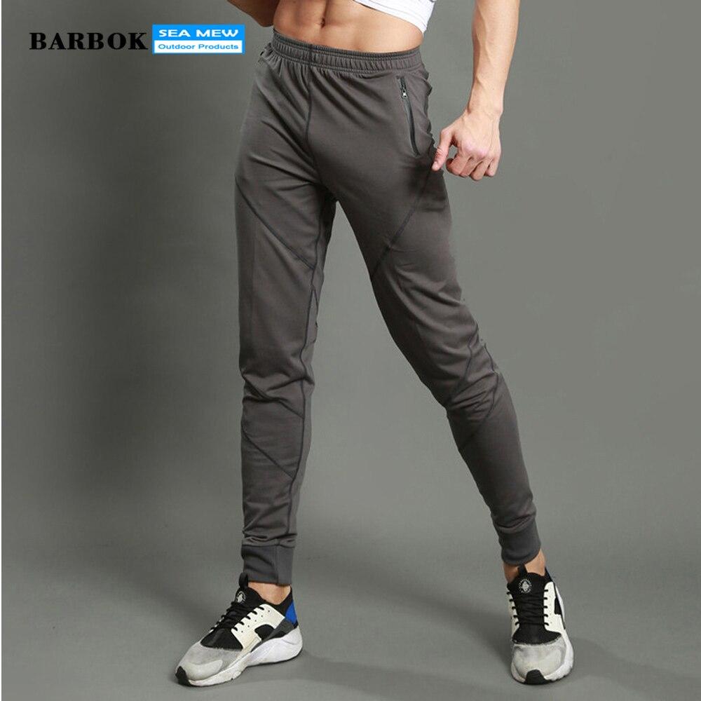 BARBOK Breathable Running Pants New Style 2017 Skinny Sweatpants Drop Crotch Men Joggers Sports Pants
