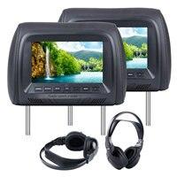 Hottest 7 Inch Colorful Black Grey Beige Car Headrest High Definition 800 480 LCD Monitor 1