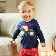 2016 New Hot Brand Kids Tops Cute Christmas Gift Boys T Shirt Baby Toddler Boys Clothes Cotton Long Sleeve Tee Shirts