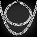 Chain Sets Men Chain Necklace Bracelets Gift Gold/Rose/Platinum Plated Trendy New Party Jewelry Mens Set S905