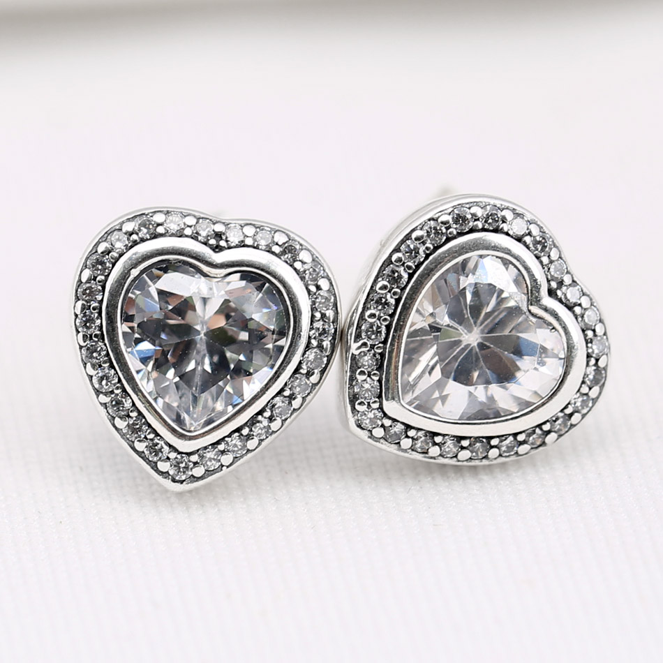 Authentic 925 Sterling Silver Earring Shine Sparkling Love Knots Stud Earrings For Women Wedding Gift Fine Europe Jewelry Clearance Price Jewelry & Accessories