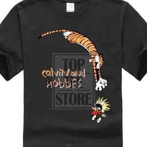 New Men'S Fashion Short Sleeve T Shirt Mens New Funny Calvin And Hobbes Mens T Shirt