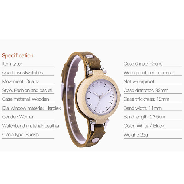 Women's Wooden Watch Ladies Girls Brand Luxury Female Quartz Wrist Watches Montre Femme Clock Relogio Feminino Drop Shipping 5