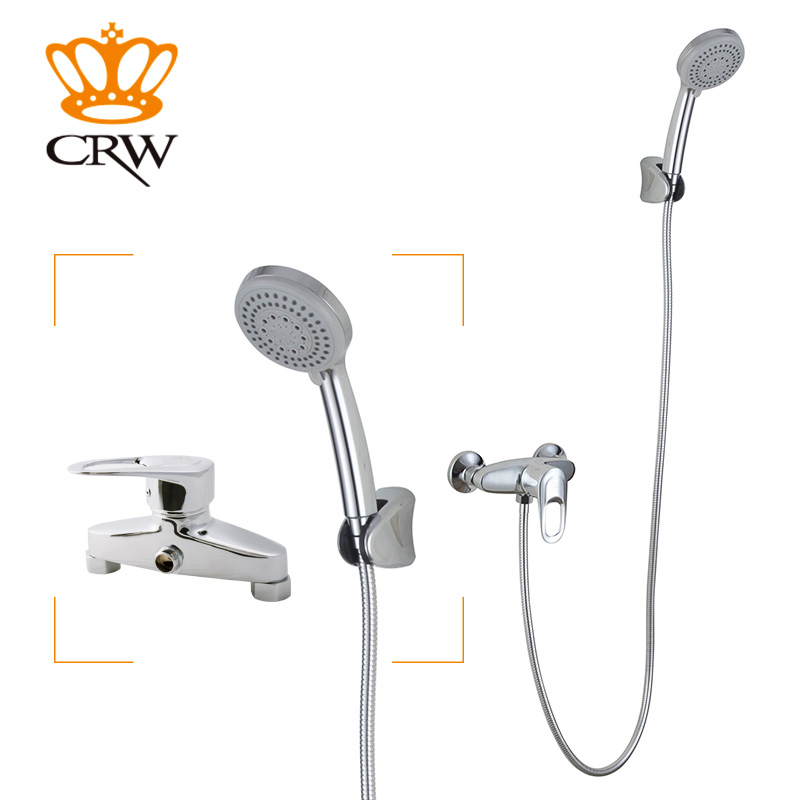 CRW Bathroom Wall Mounted Luxury 3.7 Hand held 2 Functions Shower Head System /Chrome Finish Water saving Shower Nozzle J1641