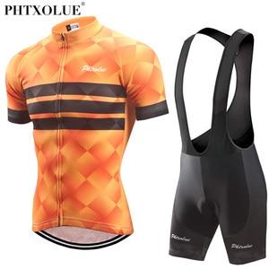 Image 3 - Phtxolue Cycling Clothing Men Cycling Set Bike Clothing Breathable Anti UV Bicycle Wear/Short Sleeve Cycling Jersey Sets