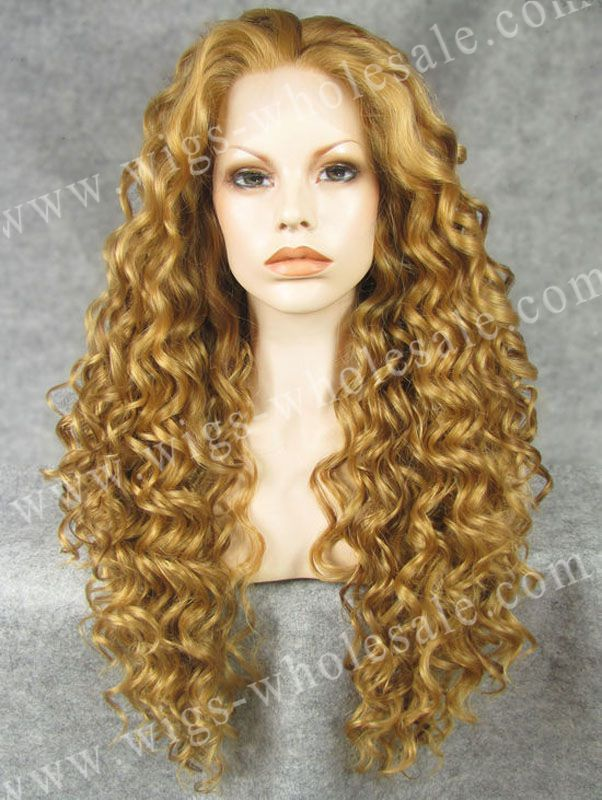 ФОТО synthetic braided lace front wigs blonde long curly blonde natural color wig free shipping