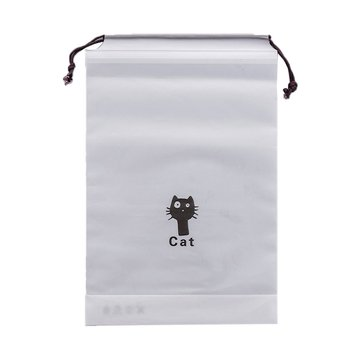 Cartoon Black Cat Drawstring Storage Bag Clothing Finishing Bag Travel Travel Bundle Pocket Portable Tidy image
