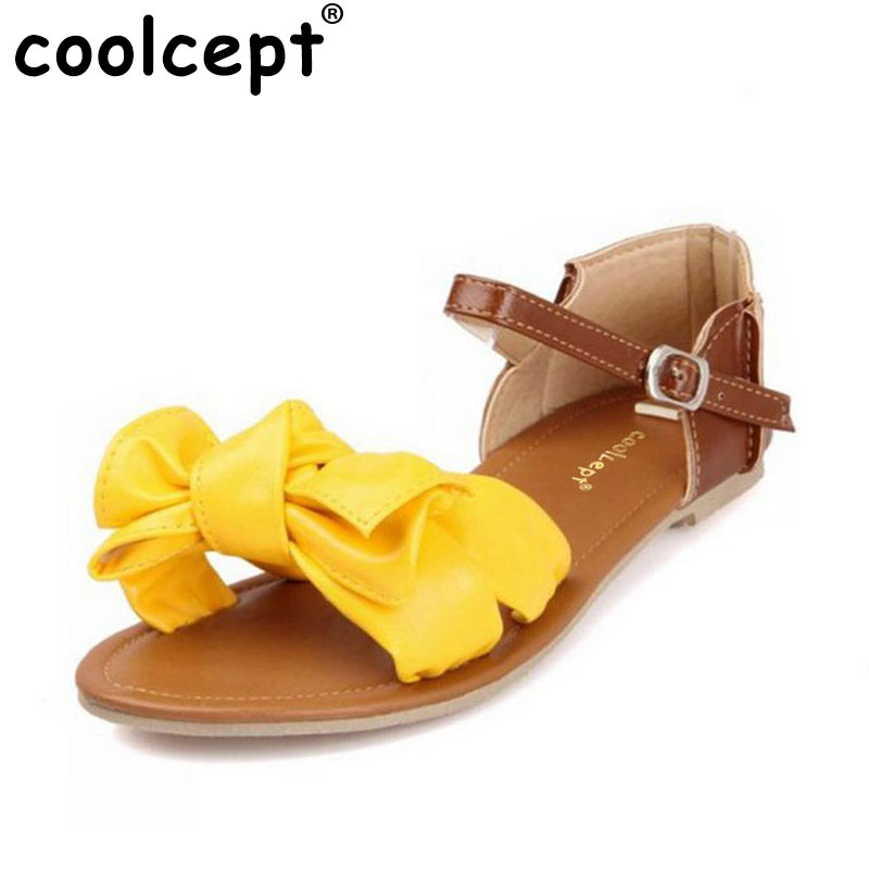 √Coolcept Taille 31-45 Femmes Plat Sandales Coloré D été Doux ... c74d89e91d1