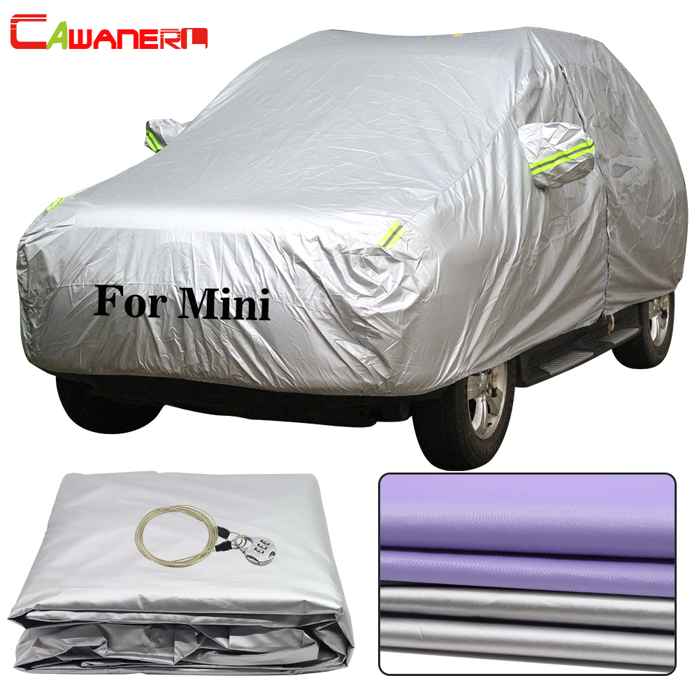 Cawanerl For Mini Cooper One Paceman Clubman Countryman Waterproof Car Cover Sun Rain Snow Protector Dust