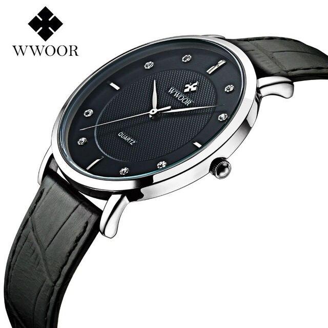 476fea96c5e 2016 Homens Relógios de Marca de Luxo Ultra Fina de Couro Genuíno Relógio  Masculino relógio de