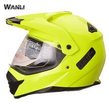 Здесь можно купить  WANLi Pioneer motorcycle helmet with sun shield atv dirtbike cross motocross helmet double lens off road racing moto helmets