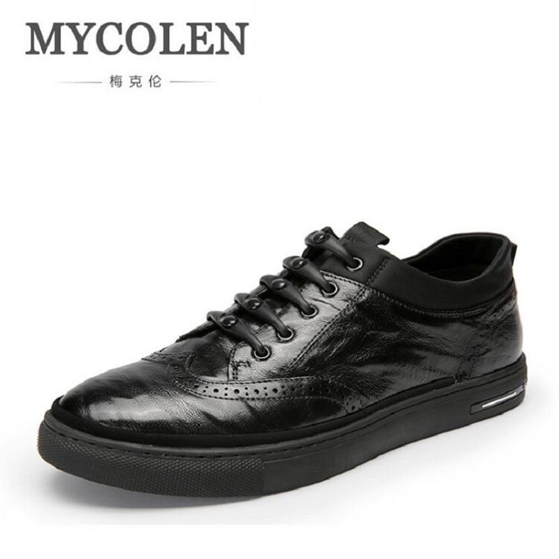 MYCOLEN Men Genuine Leather Shoes Luxury Band Breathable Men Shoes Casual Male Shoes Designer Comfort Men Flats chaussures homme men leather shoes casual 2017 spring summer fashion shoes for men designer shoes casual breathable mens shoes comfort loafers