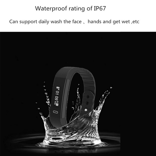 Dustproof Waterproof Fitness Tracker Pedometer Smart Sports Watch With Sleep/Calorie  Monitor OLED Big Screen Step Counter Watch