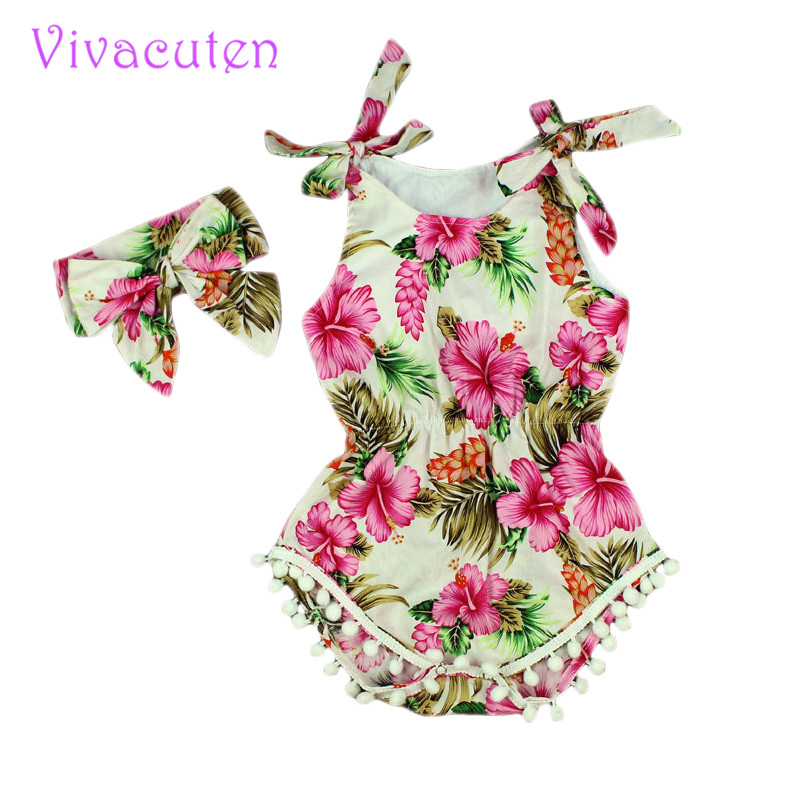 New 2016 Summer Baby vintage floral Romper Baby Girl Romper Toddler cotton  Rompers Baby Jumpsuit Infant Newborn Baby Clothes newborn cute toddler floral baby girl rompers infant cotton long sleeve kids jumpsuit overall romper hat children clothes sets