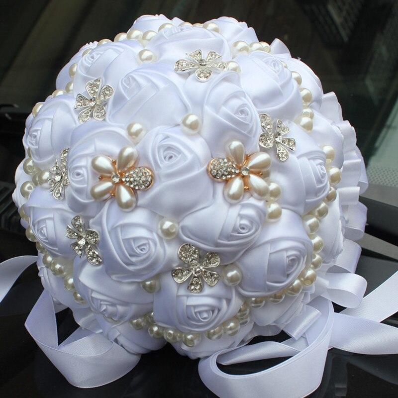 European American Populare Pure alb mireasa de mână deține flori - Produse pentru sărbători și petreceri