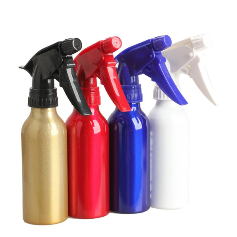 1pc Metal Refillable Bottles Sprayer Aluminum Spray Bottle Hairdressing Water Sprayer Hair Styling Tool Vaporisateur RandomColor