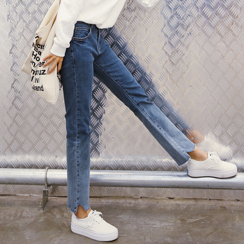 Boyfriend autumn beggar jeans woman wide leg pants loose style casual denim trousers good quality washing color jeans femme girl beggar s feast