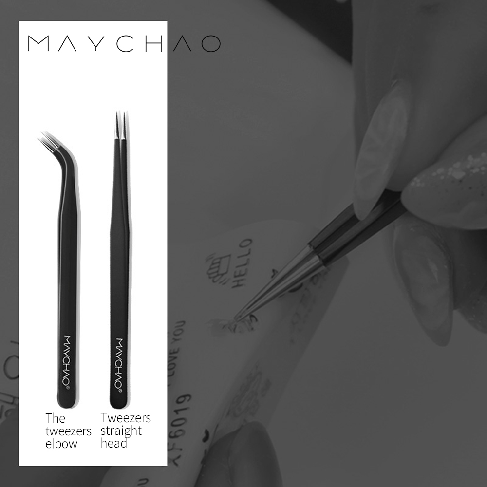 Maychao Creative Hobbies 2 Piece Tweezers – Craft Jewelry Beauty Nail Art Hobby Picking Tool