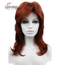 Long Shaggy Layered Copper Red Classic Cap Full Synthetic Wig Womens Wigs COLOUR CHOICES