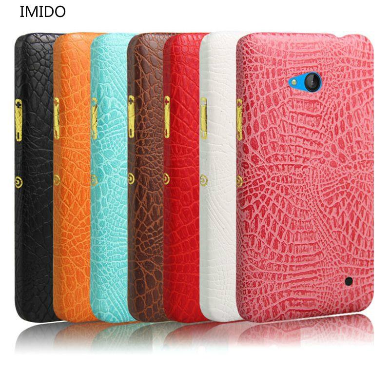 IMIDO Crocodile Grain PU Leather For Nokia Microsoft Lumia 640     on phone Dual Sim Lte 5.0 PU Leather Protective Case Cover