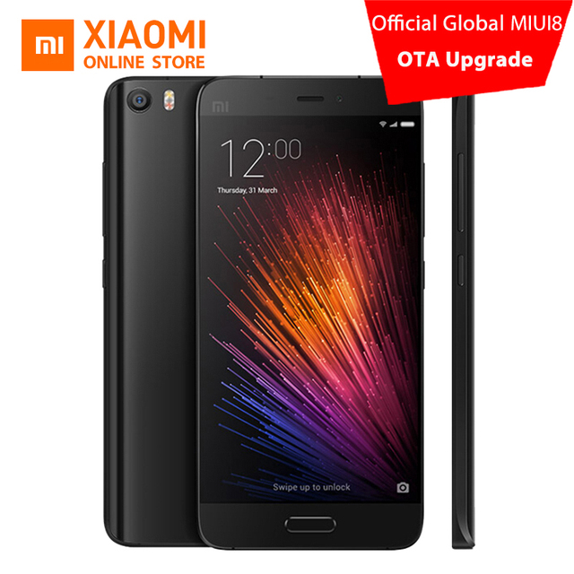 Original Xiaomi Mi5 5.15 Snapdragon 820 Quad Core mobile phone 3GB 32GB 16MP Fingerprint ID 4G FDD LTE Global ROM miu8