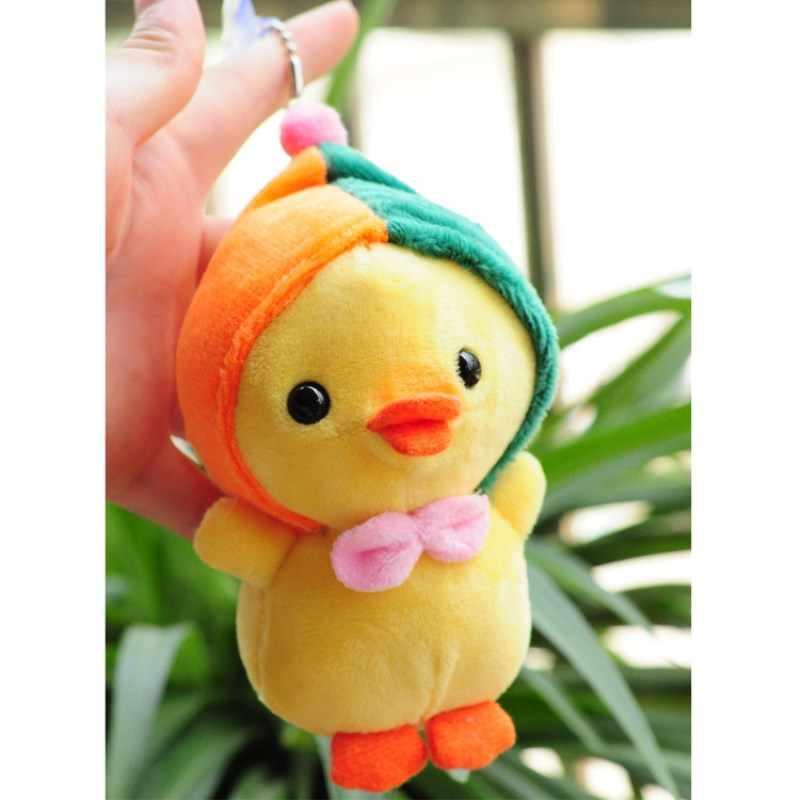 ตุ๊กตา Little ไก่สีเหลืองตุ๊กตาตุ๊กตาสัตว์ตุ๊กตาของเล่นตุ๊กตาน่ารักตุ๊กตาการ์ตูน Kawaii Keychain จี้ Plushs ของเล่นสำหรับของขวัญเด็ก