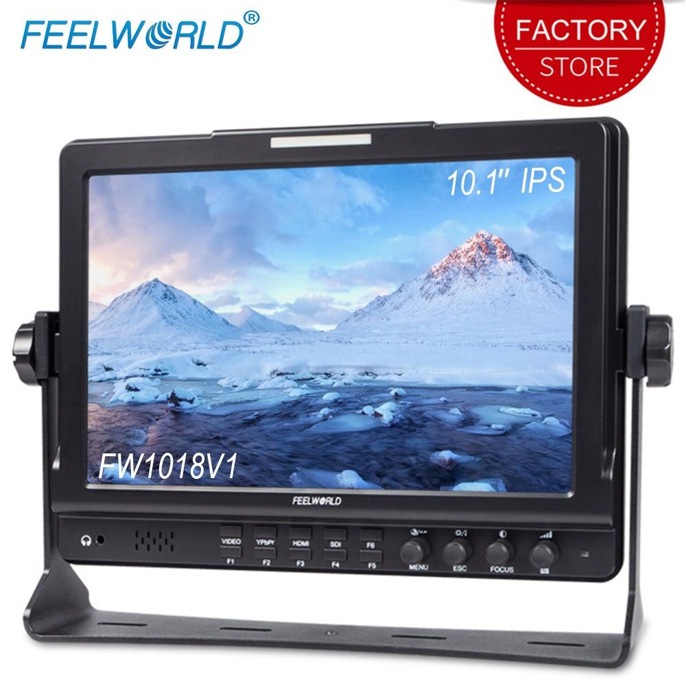 Feelworld FW1018V1 10.1 Inch Camera Field Monitor 4K Full HD 1920x1200 IPS Display HDMI YPbPr Video Audio Input For DSLR Cameras