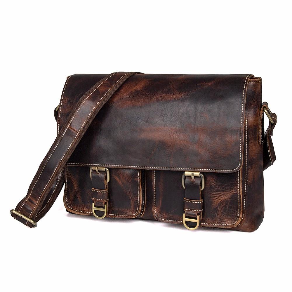 Tasche Für Leder Brown Jmd Business Umhängetasche Männer Klappe Garantiert Echtes 1038q Messenger B66n4