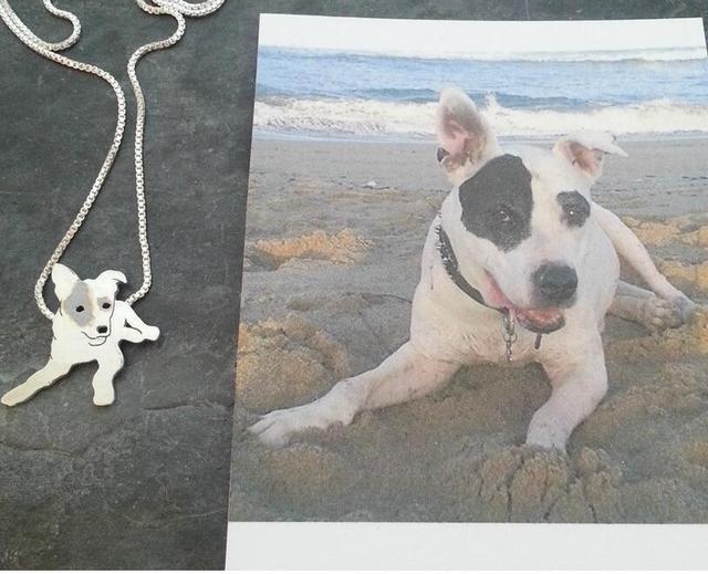 Custom pitbull dog necklace your pet pendant cat silhouette memory custom pitbull dog necklace your pet pendant cat silhouette memory jewelry keepsake memorial gift aloadofball Gallery