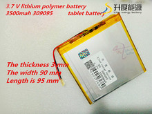 309095 3.7V 3500mah Lithium polymer Battery with Protection Board For PDA Tablet PCs Digital Products
