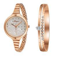 XINGE Watches Women Women Gold Rhinestone Bangle Watch And Bracelet Set 189R Wristwatch Bangle Bracelet reloj mujer 17Jul19