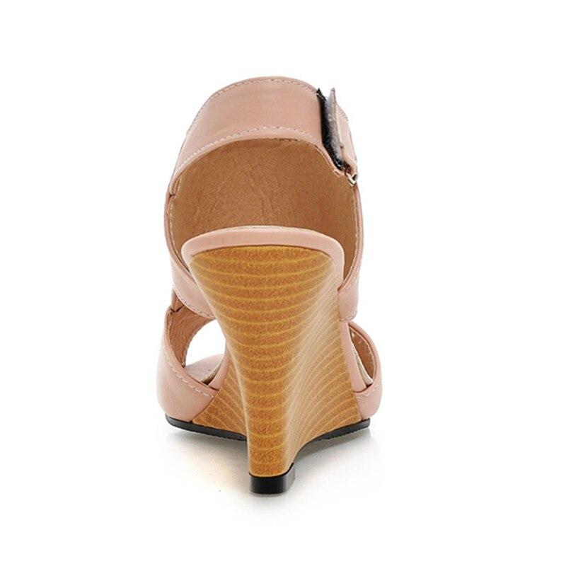 Alti 43 Per 34 Taglio Piattaforma Sexy Peep Donna Bianco Estate Nero Sandali Soft Lady Toe Tacchi Size Tacchi Rosa Scarpe Plus Less wTqExgA0