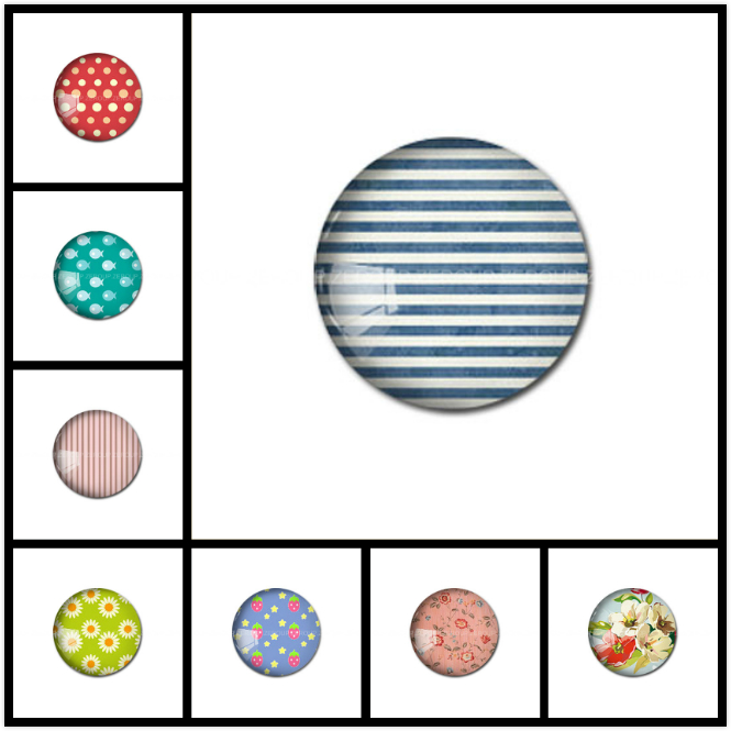 ZEROUP Round Photos Glass Cabochon Jewelry Finding fit Cameo Blank Settings Supplies for Jewelry Components 40
