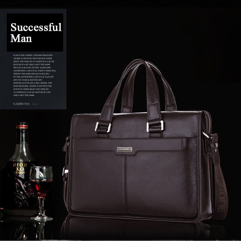 Briefcase Shoulder Bags For Men Laptop Genuine Leather Clutch Bag bolsas de marca,bolso mano Handbag Messenger Bags