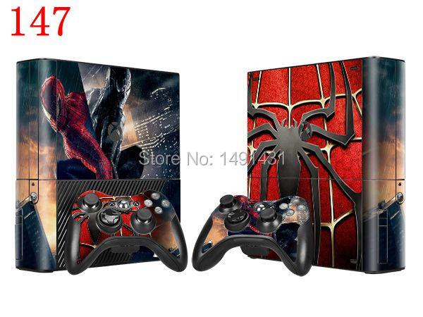 OSTSTICKER Spiderman Design Vinyl Protector Skin Sticker For Xbox 360 E Console and Controller Skin Decals