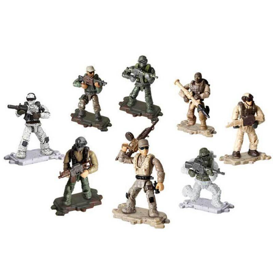 Military Blocks Bricks Call of Duty Tactical Team Soldiers Mini Army Figures Set